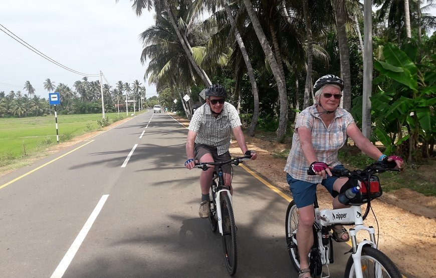 Cycling in Polonnaruwa Countryside and Fishing in the lake