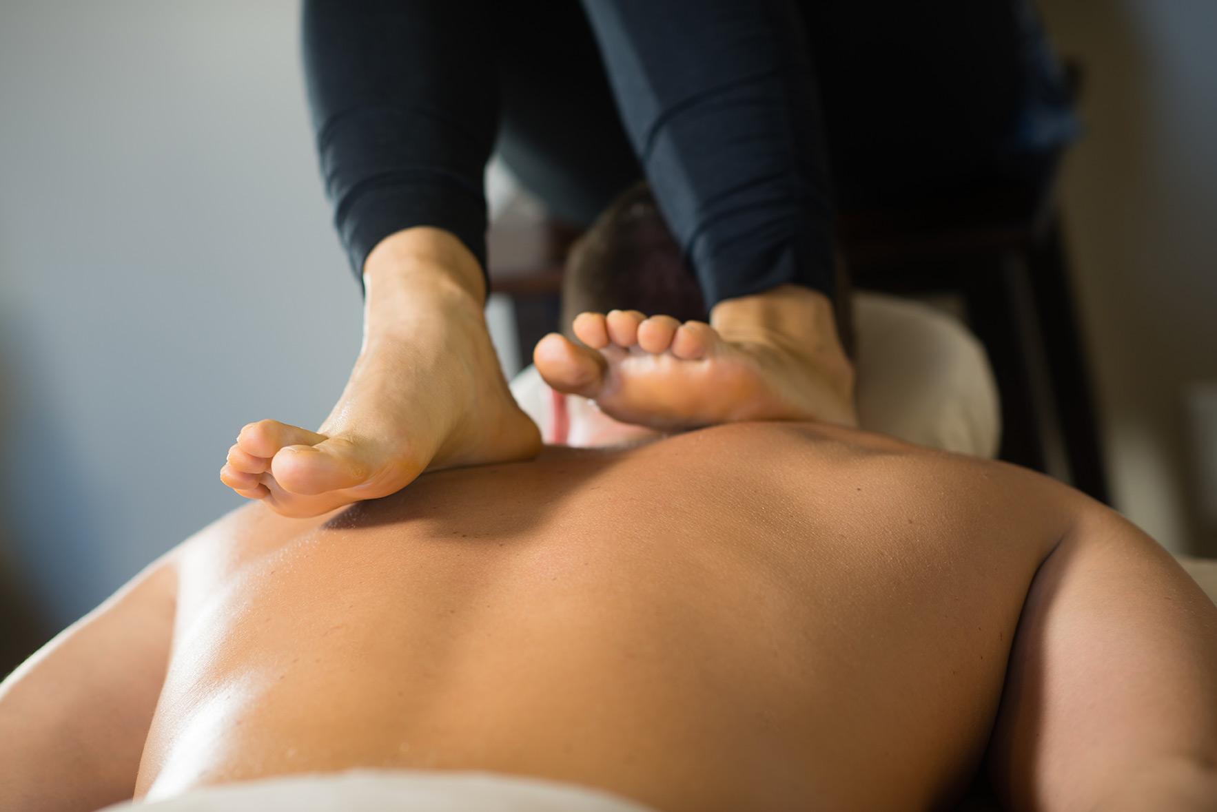Back walking massage in kochi